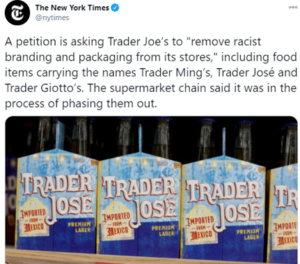 Criticism of Trader Joe's packaging